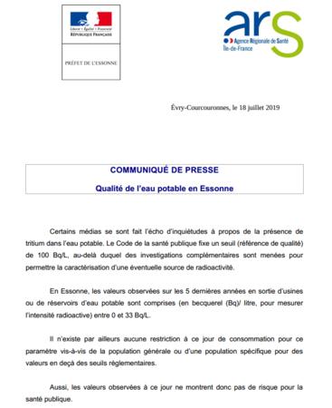 Qualite De Leau Potable En Essonne Actualités Accueil